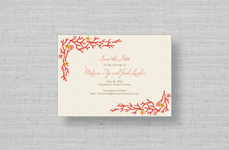 Coral Reef Wedding Thank You cards