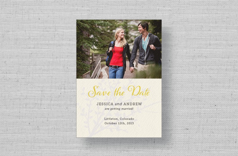 fall photo save the dates
