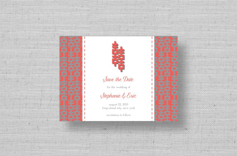 double happiness wedding save the dates