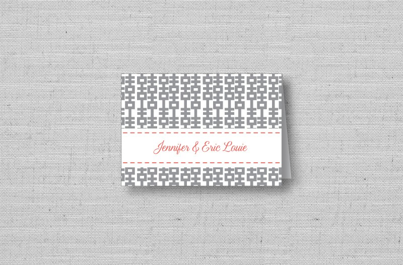 double happiness wedding thank you cards