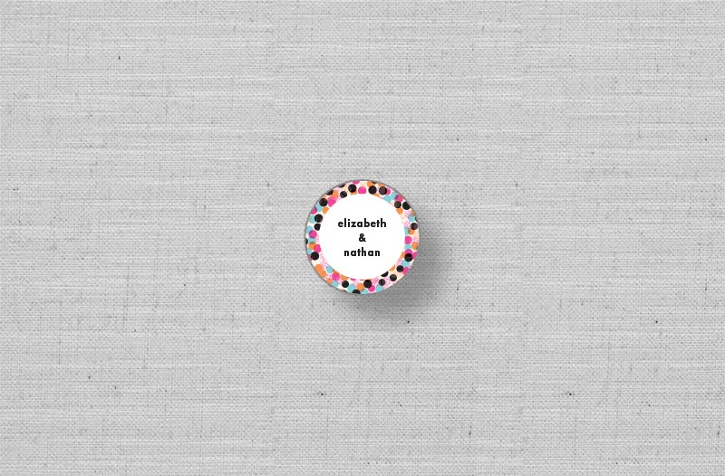 modern circles personalized stickers