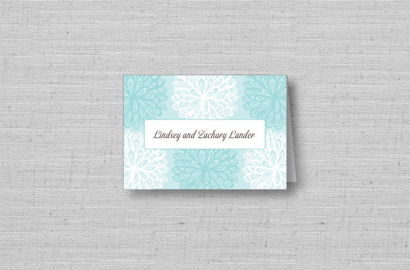 modern flower personalized thank you cards