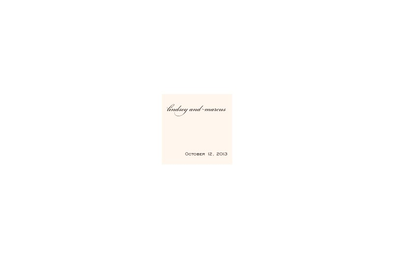 Sophisticated Script Wedding Gift Tag