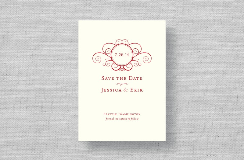 Swirl thermography save the dates