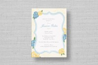 blue and yellow bridal shower invitations