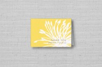 modern yellow flower personalized thank you cards