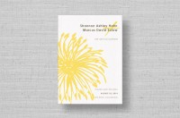 modern yellow flower wedding save the dates