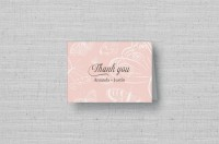 pink butterfly wedding thank you cards