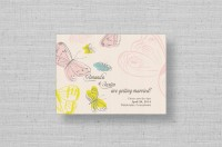 rustic butterfly wedding save the date cards