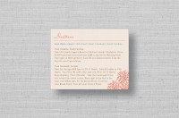 Coral Reef Wedding Direction cards