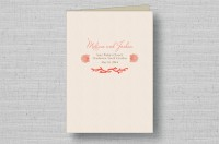 Coral Reef Wedding Program Cover