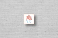 Coral Reef Wedding Square Stickers