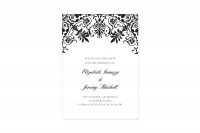 Dapper Damask thermography wedding save the date card