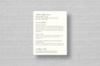 thermography wedding directions card