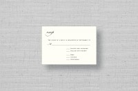 Elegant thermography wedding reply cards
