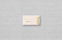 rustic fall tree wedding placecards