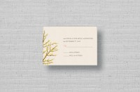 Fall Branches Wedding RSVP card