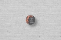 vintage floral personalized circle stickers
