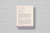 Lace Flowers wedding direction cards