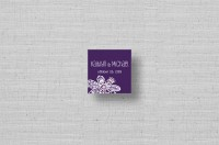 Lace Flowers personalized small square cards