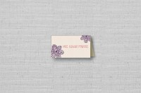 Lace Flowers wedding placecards