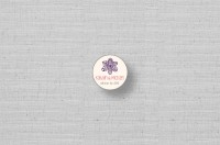 personalized stickers with laced flower