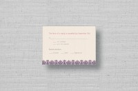 Lace Flowers wedding response cards
