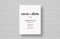 Confetti Chic Modern Save the Dates