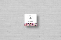 Chic modern magenta dots square stickers