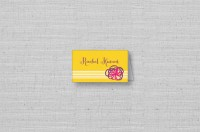 yellow folded modern place cards