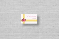 brightly colored wedding placecards