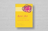 ribbon modern wedding save the dates