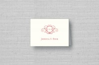 Twirling Monogram thermography wedding thank you card