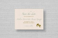 oak tree acorn wedding save the date card