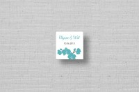 modern orchid square stickers