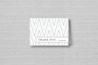 modern chevron personalized thank you cards