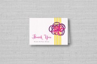 bright ribbon wedding thank you cards