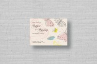 butterfly wedding reception cards