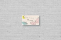 wedding seating cards butterfly