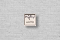 brown floral vintage personalized small square cards