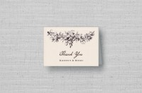 vintage floral personalized thank you cards