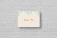 personalized snowflake thank you cards