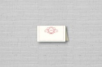 monogram thermography placecard
