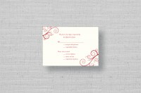 Twirling Monogram thermography wedding rsvp card